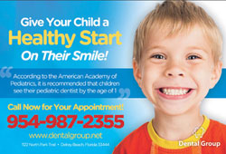 Free postcard template for pediatric dental practices