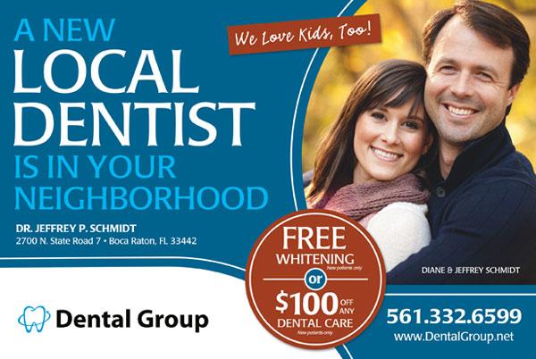 Free Dental Marketing Postcards from Postcards123.com